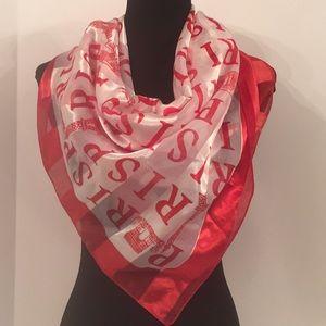 Red & White Paris Landmarks Scarf / Wrap